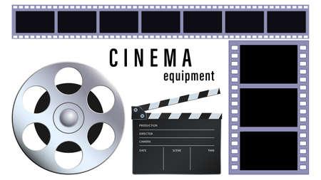 Realistic cinema equipment isolated on a white background Foto de archivo - 151776784