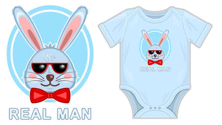 Bunny real man clothes for newborn mockup