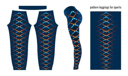 Abstract geometric pattern leggings for sports template vector Vektorgrafik