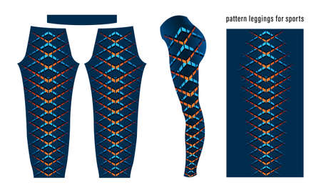 Abstract geometric pattern leggings for sports template vector