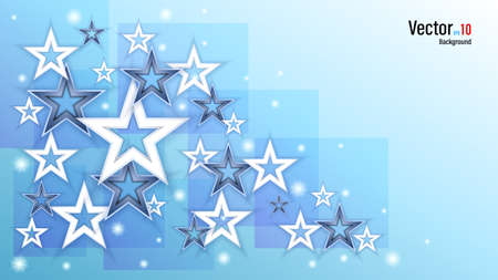 3d white paper or plastic stars on background