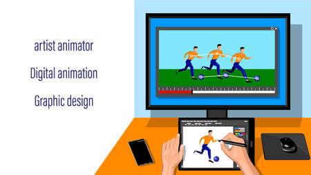 Animator Designer in Creative Process Art Project