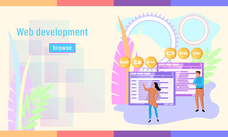 Concept of development design website or app
