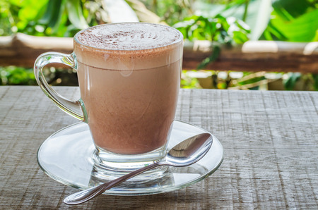 chocolate treats: The hot cocoa have a breakfast Stock Photo