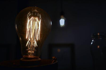 An vintage light bulb