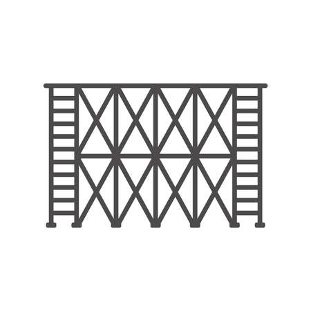 Scaffold icon in flat style.Vector illustration.