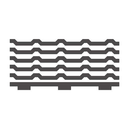 Roofing Sheet Iron on a pallet icon in flat style isolated on white background.Vector illustration. Vektorgrafik