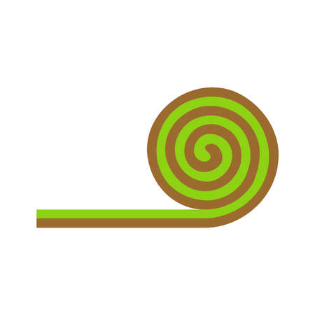 Turf Roll.Lawn roll icon in a flat style isolated on white background.Vector illustration.