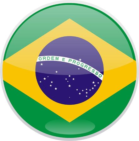 Brazil flag button Stock Photo - 13882765