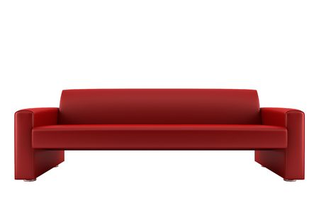 red sofa isolated on white background Stock Photo - 3759132