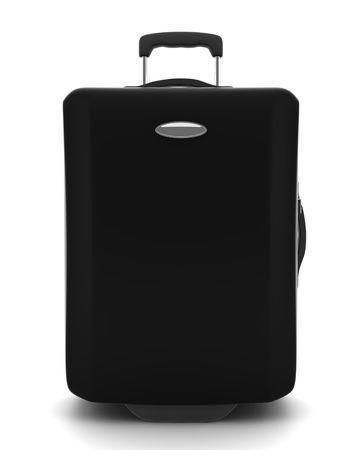 black suitcase isolated on white background Stock Photo - 3801040