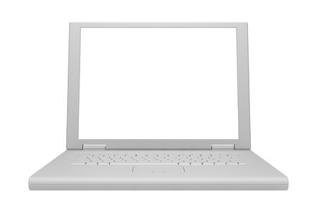 gray laptop isolated on white background Stock Photo - 4124680