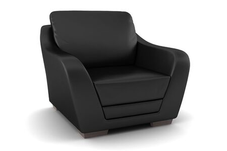 black leather armchair isolated on white background Stock Photo - 4196929