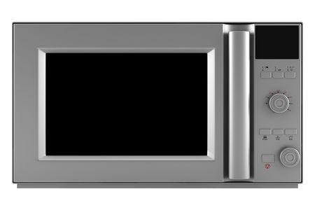 microwave oven: horno microondas aisladas sobre fondo blanco. saturaci�n camino Foto de archivo