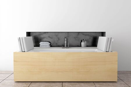 modern bathroom with white wall Stock Photo - 6709210