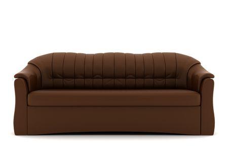 brown leather sofa: divano in pelle marrone