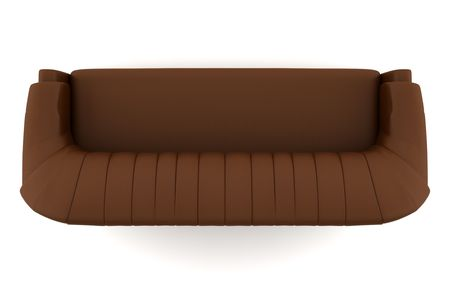 top view of brown leather sofa  photo