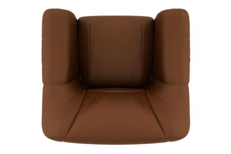 armchair: top view of brown leather armchair