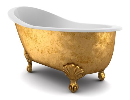 classic bathtub isolated on white background  Stock Photo - 7127988