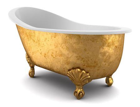 bath tub: classic bathtub isolated on white background