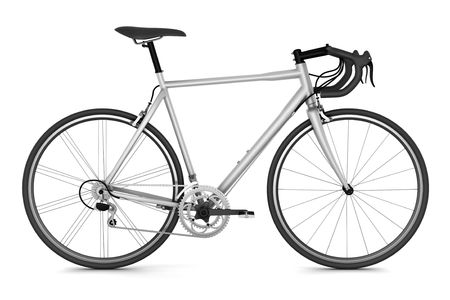 bike race: sport bicycle isolated on white background Stock Photo