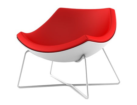 red chair isolated on white background Stock Photo - 8366052