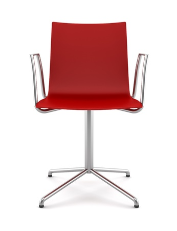 red office chair isolated on white background photo