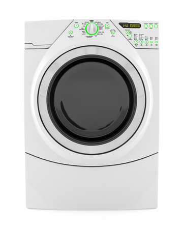 wash machine isolated on white background photo