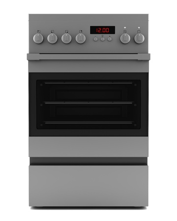 electric stove: modern electric stove isolated on white background