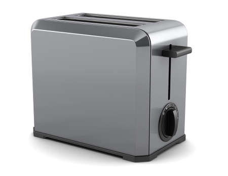toaster isolated on white background with clipping path Stock Photo - 9390392
