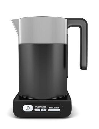 black electric kettle isolated on white background Stock Photo - 9423584