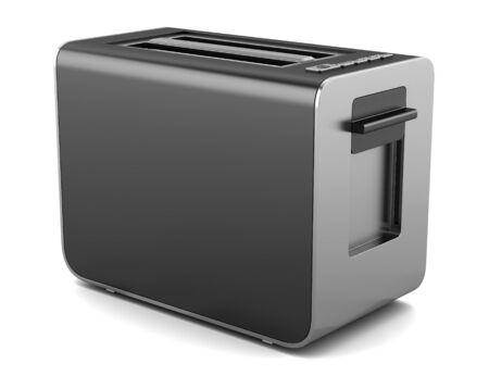 modern black toaster isolated on white background  photo