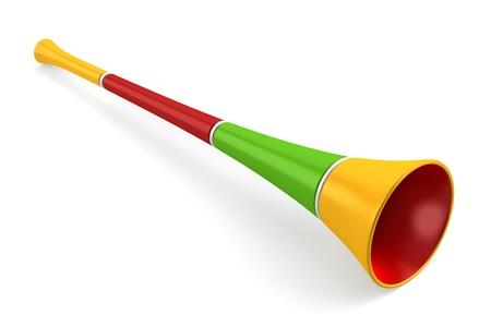 cuernos: cuerno de fiesta multicolores sobre fondo blanco