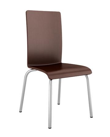 Moderne Lederen Bureaustoel.Moderne Beige Lederen Bureaustoel Geisoleerd Op Witte
