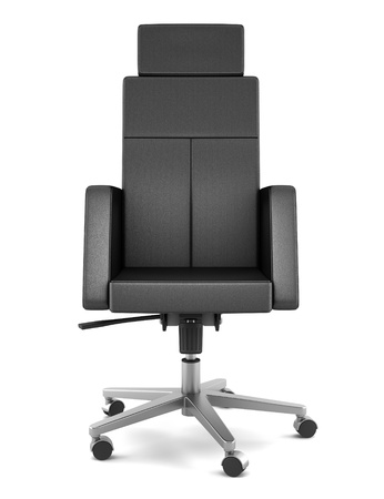 isolated chair: modern black office chair isolated on white background Stock Photo