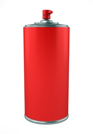 red paint spray can isolated on white background Stock Photo - 10946341