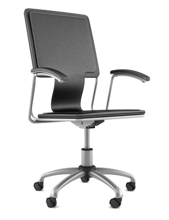 leather office chair modern. Modern Black Leather Office Chair Isolated On White Background Photo