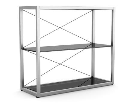 empty office shelves isolated on white background Stock Photo - 11237891