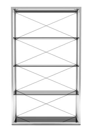 empty office shelves isolated on white background Stock Photo - 11237894
