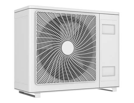 modern air conditioner isolated on white background photo