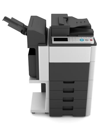 fotocopiadora: la impresora multifunción de oficina moderna aislado sobre fondo blanco