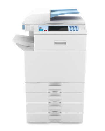 modern office multifunction printer isolated on white background Stock Photo - 12683440