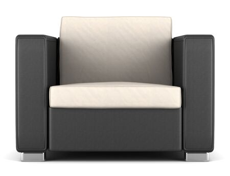 modern black and beige armchair isolated on white background Stock Photo - 13487088