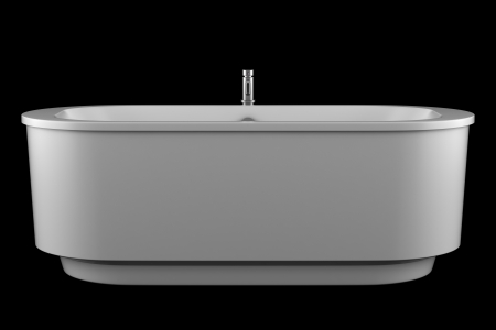 modern white bathtub isolated on black background Stock Photo - 15934720