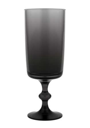 single black empty glass isolated on white background Stock Photo - 16148318