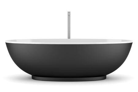 modern black bathtub isolated on white background Stock Photo - 16402729
