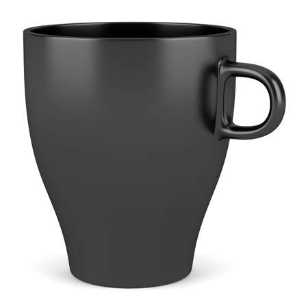 black ceramic cup isolated on white background Stock Photo - 16464591