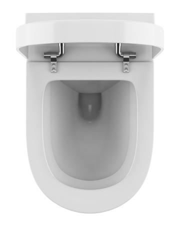 toilet sink: vista desde arriba del inodoro moderno aislado sobre fondo blanco