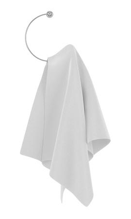 towel on hanger isolated on white background photo