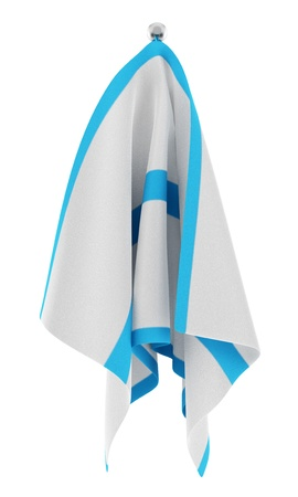 towel on hanger isolated on white background Stock Photo - 17928978